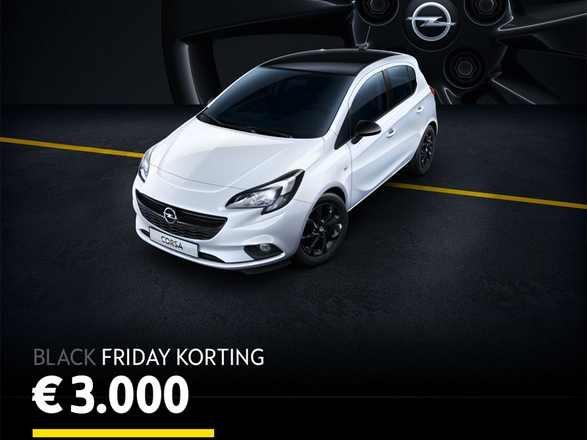 Opel Corsa Black Friday actie